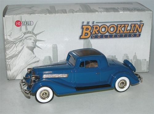 Brooklin Models, 1934 Buick 96-S Coupe, royale blue, blau, 1/43