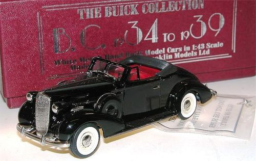 Brooklin Models, 1936 Buick Special Convertible Coupe M-46C, schwarz, 1/43