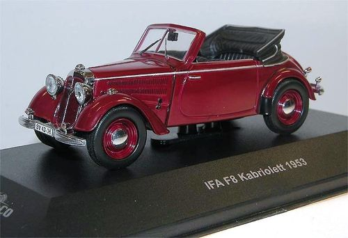 Ist Models, IFA F8 Cabriolet, 1953, dunkelrot, Cars & Co.,Sondermodell, Limited 500, 1/43