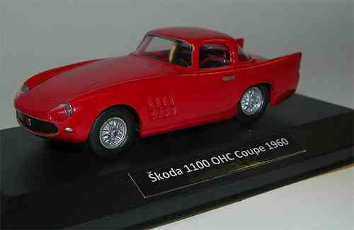 FOXTOYS, Skoda 1100 (1101) OHC Coupe Typ 968, 1960, rot, 1/43, Resine