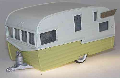 Brooklin Models, 1958 Shasta Airflyte Travel Trailer, Wohnwagen, 1/43