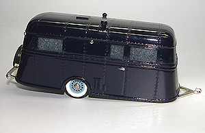 Brooklin Models, 1937 Pierce Arrow Travelodge Trailer,  Wohnwagen, blau, 1/43