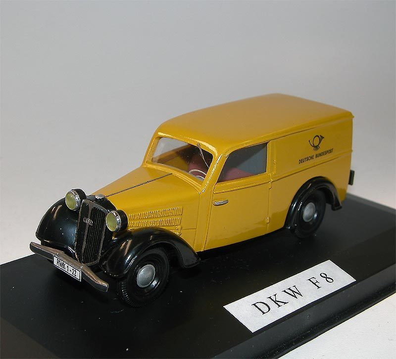 foxtoys dkw f8 kastenwagen 1939 deutsche post 1 43 handbuilt. Black Bedroom Furniture Sets. Home Design Ideas