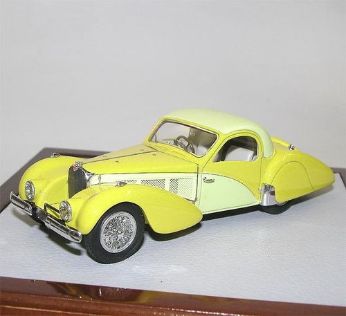 Chromes-Ilario, 1937 Bugatti 57SC Atalante Coupe, Cream/Yellow, 1/43