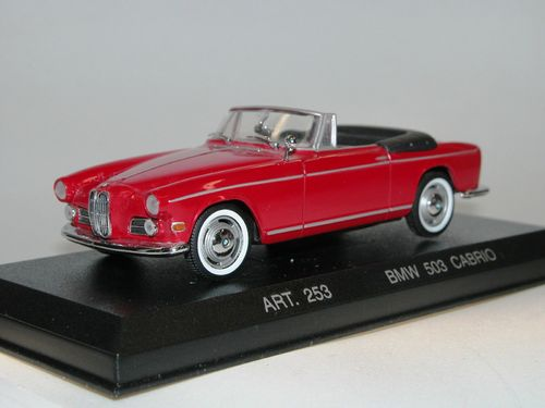 Detail Cars, 1959 BMW 503 Cabriolet, rot, 1/43