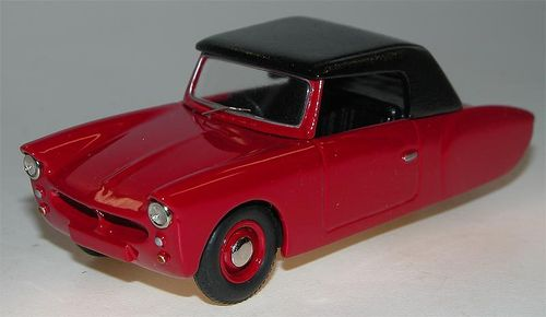 1957 Coronet 3-Wheeler Softtop, red, Microcar, Resin, 1/43