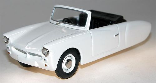 1957 Coronet 3-Wheeler open Top, white, Microcar, Resin, 1/43