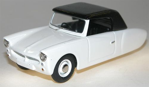 1957 Coronet 3-Wheeler Softtop, white, Microcar, Resin, 1/43