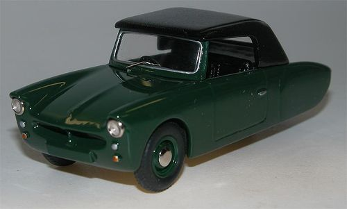 1957 Coronet 3-Wheeler Softtop, green, Microcar, Resin, 1/43