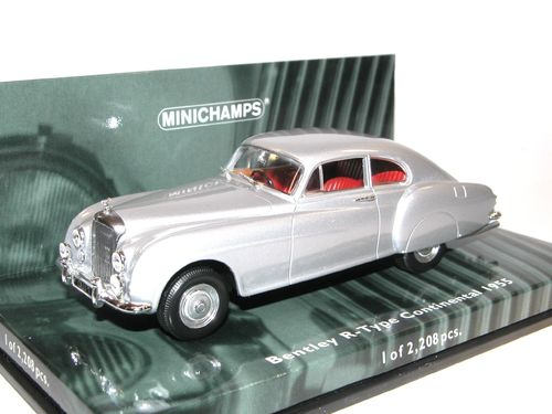 Minichamps, 1955 Bentley R-Type Continental, silver, 1/43