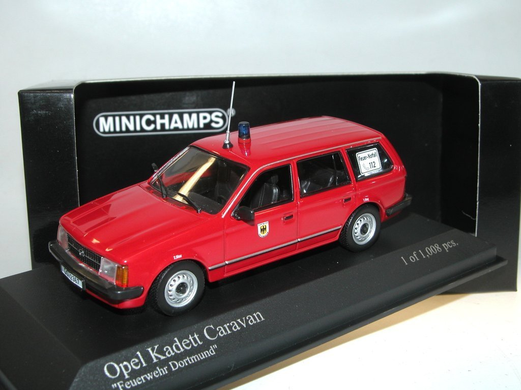minichamps 1979 opel kadett d caravan feuerwehr dortmund 1 43 ovp. Black Bedroom Furniture Sets. Home Design Ideas