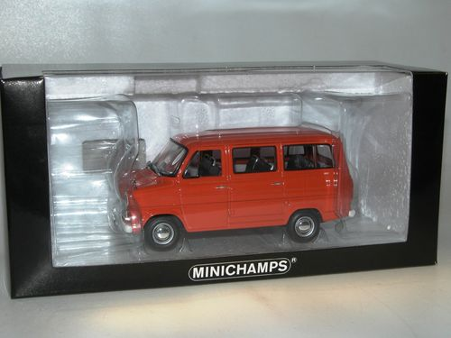Minichamps, 1971 Ford Transit Bus, orange, 1/43