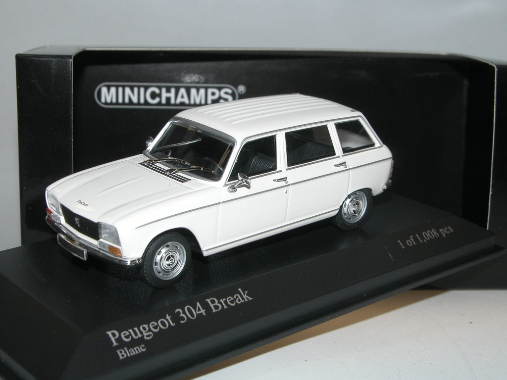 minichamps 1972 peugeot 304 break kombi wei limited edition. Black Bedroom Furniture Sets. Home Design Ideas