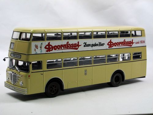 Minichamps Büssing D2U Doppeldecker Bus DOORNKAAT 1/43