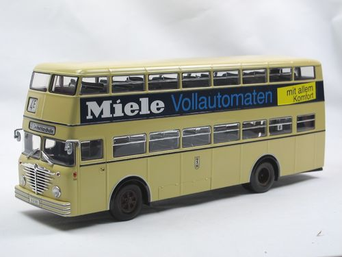 Minichamps 1958 Büssing D2U Doppeldecker Bus MIELE 1/43