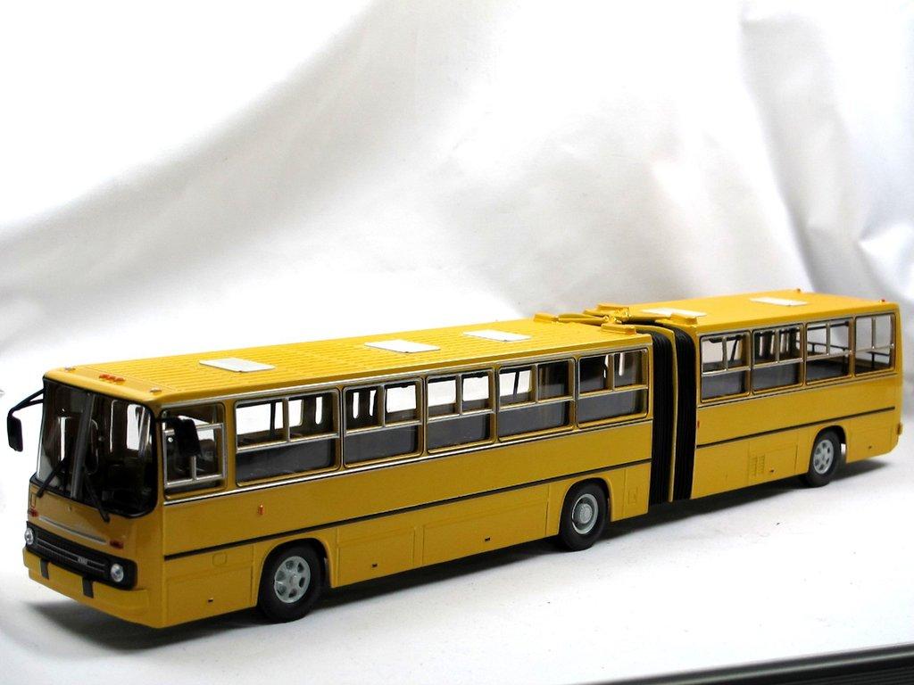Soviet Bus Ikarus 280 Stadtbus Bus Gelenkbus Gelb 143 Metall