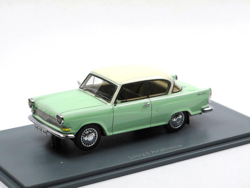 neo scale models 1960 lloyd arabella gr n wei 1 43 resine modell. Black Bedroom Furniture Sets. Home Design Ideas