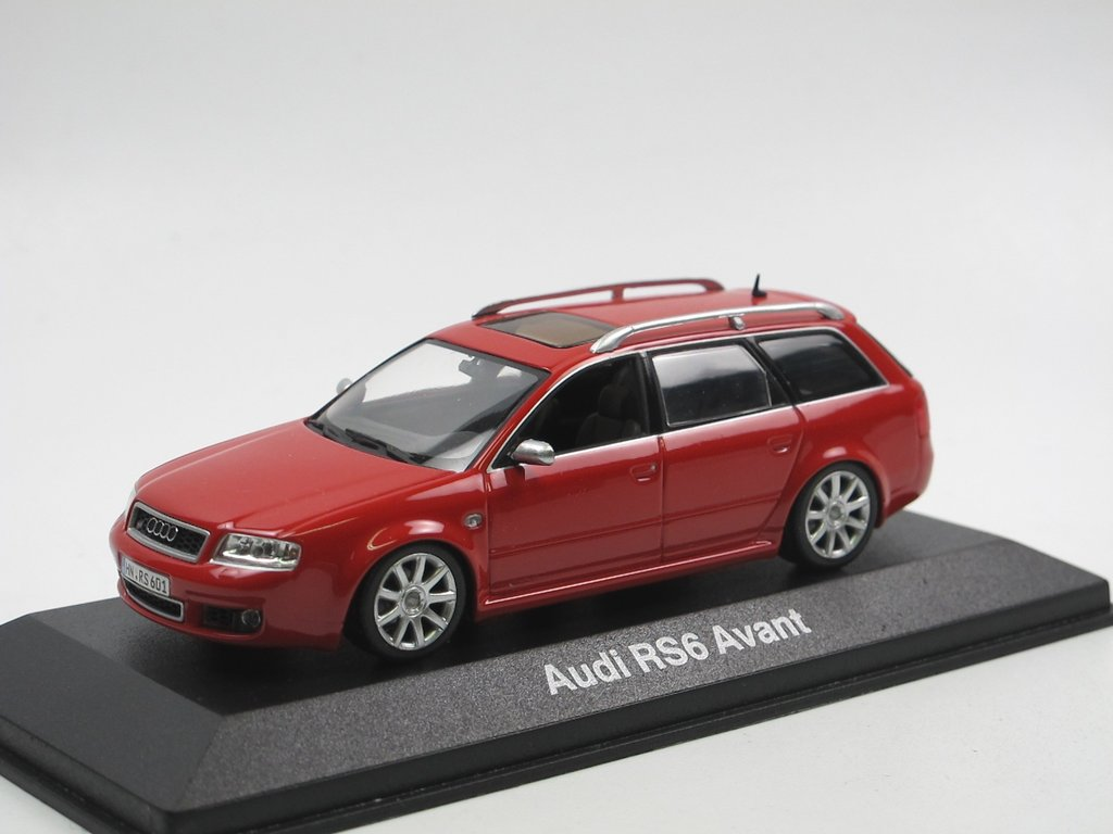 minichamps 2002 audi rs6 avant c5 misano red 1 43 seltenes. Black Bedroom Furniture Sets. Home Design Ideas