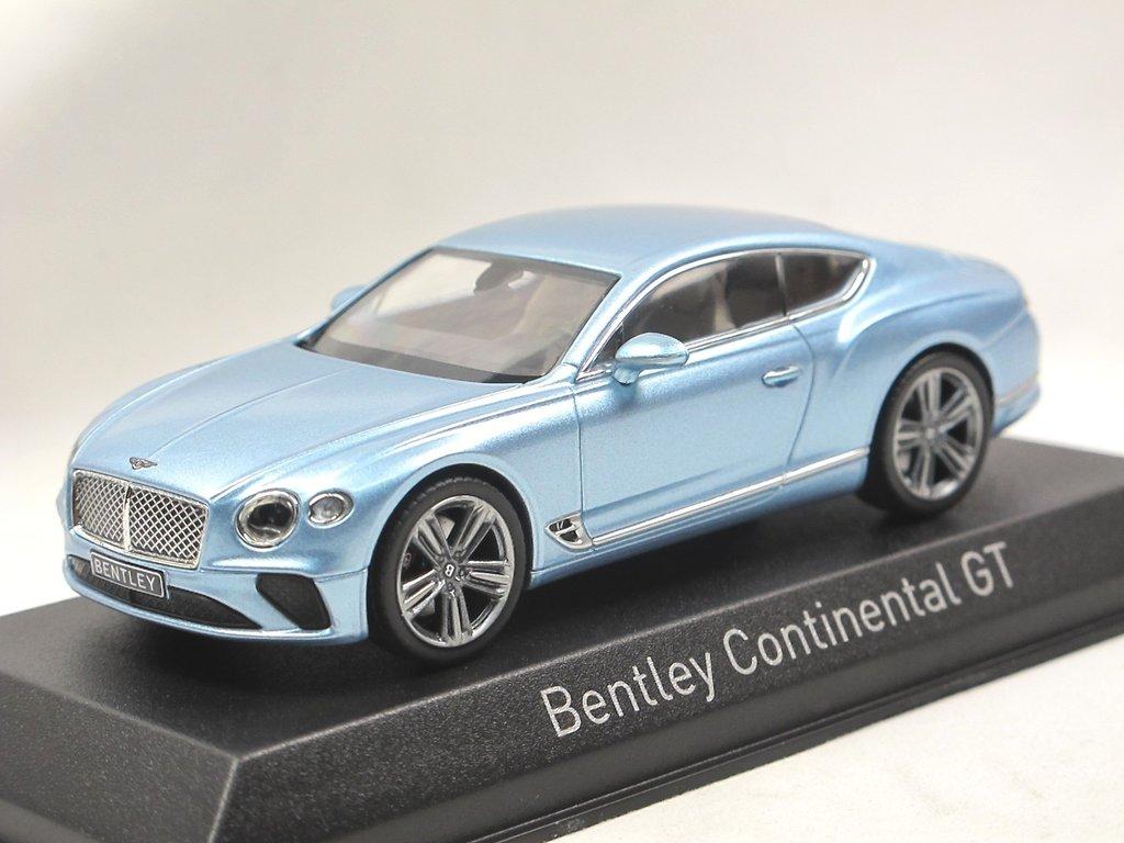 Bentley Continental GT Coupe 2018 Silverlake blau silber metallic 1:43 Norev