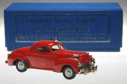 Brooklin Models, 1941 Chrysler Saratoga 2-Door Coupe, Fire Chief, 1/43