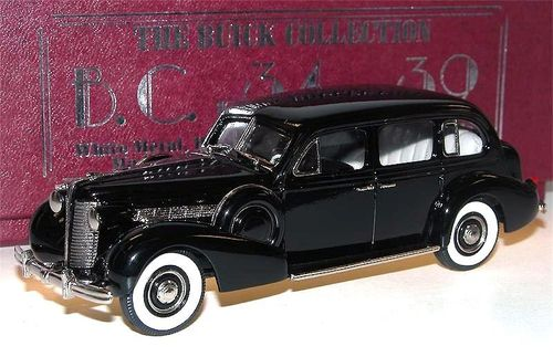 Brooklin 1938 Buick Limited Limousine Model 90-L black 1/43