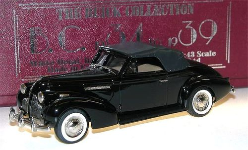 Brooklin 1939 Buick Century Convertible Coupe M-66C black 1/43