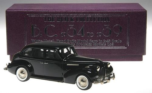 Brooklin Models 1939 Buick Century 4-Door Sedan black 1/43