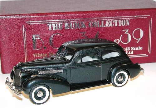 Brooklin Models, 1937 Buick Special 2-Door Plain Back Sedan M-44, grau, 1/43