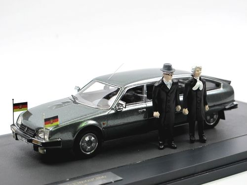 Matrix Scale Models, Honecker Nilsson Citroen CX DDR, mit Figuren 1/43