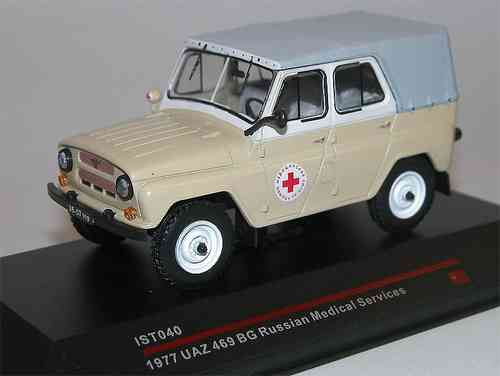 Ist Models, UAZ 469, BG, Russian Medical Services, Ambulanz, DDR, USSR, Jeep, 1977, 1/43