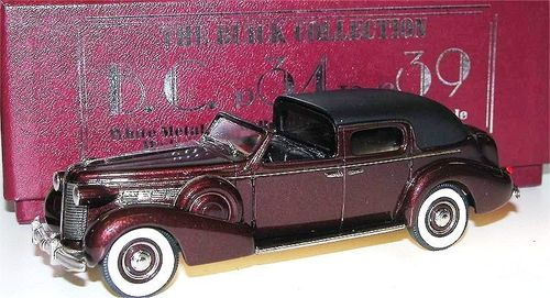Brooklin Models, 1938 Buick Limited Town Car by Derham, Muscovado Poly, 1:43
