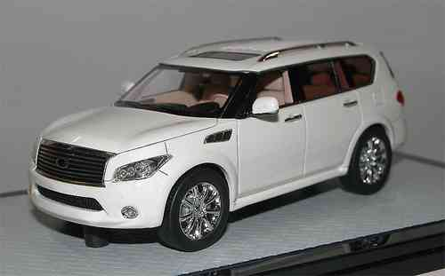 Great Lighting Models, 2011 Infiniti QX56, weiß, SUV, 1/43