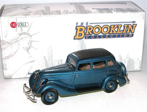 Brooklin Models, 1935 Studebaker Dictator 4-Door Sedan, blau, 1/43