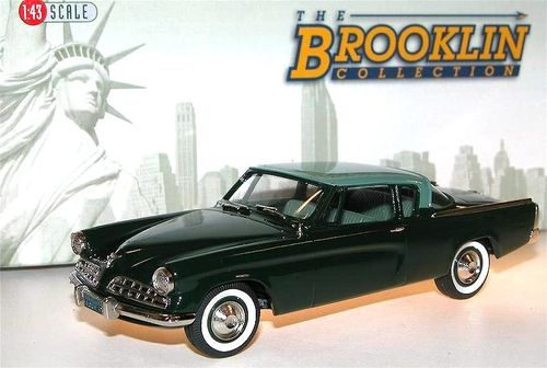 Brooklin Models 1954 Studebaker Commander Loewy Coupe grün, 1/43