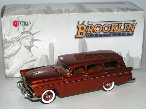Brooklin Models, 1955 Plymouth Belvedere Suburban, Station Wagon, 1/43