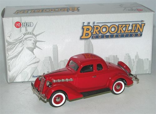 Brooklin Models 1953 Plymouth De Luxe 3-Window Coupe red 1/43