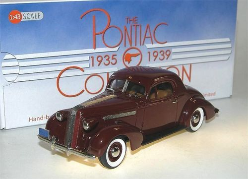 Brooklin Models, 1936 Pontiac Deluxe Six Coupe, Maroon, 1/43