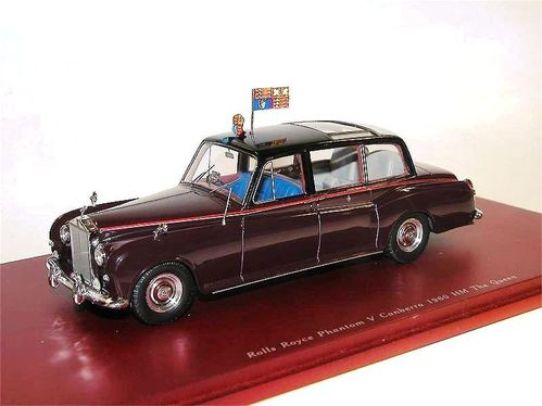 TSM Model, 1960 Rolls Royce Phantom V, HM Queen's Car Canberra, 1/43