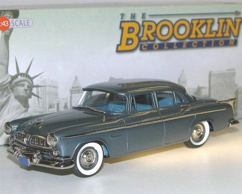 Brooklin Models, 1955 Chrysler Windsor 4-Door Sedan, Embassy Gray Metallic, 1/43