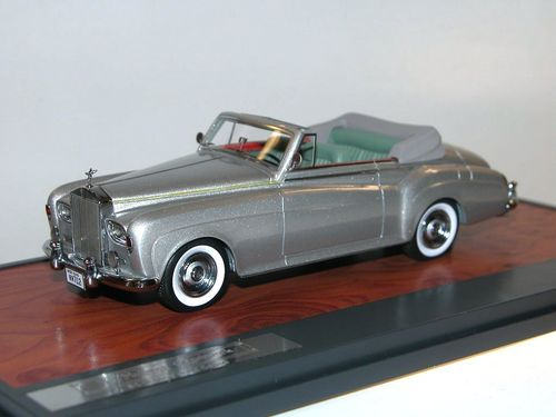 Matrix Scale Models, Rolls Royce Silver Cloud DHC, Mulliner, silber, 1/43
