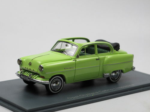 Neo Scale Models 1954 Opel Olympia Cabriolimousine grün 1/43