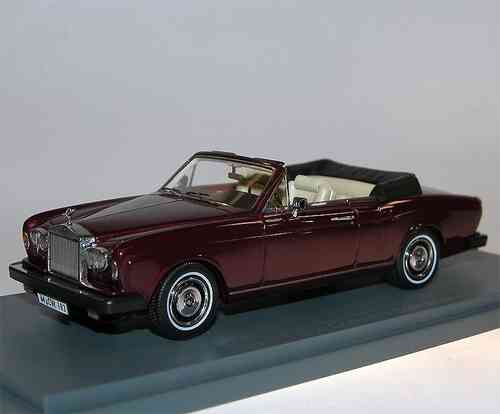 Neo Scale Models, Rolls Royce Corniche Convertible, maroon, 1/43 Limited Edition