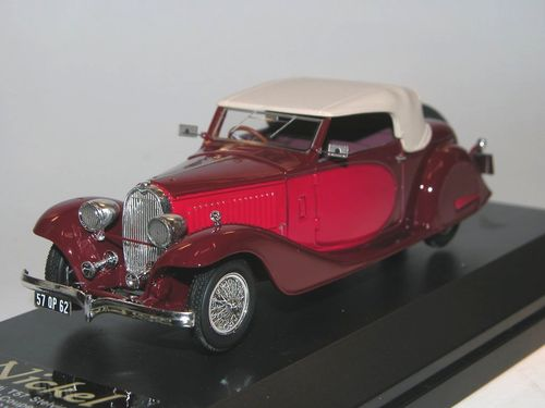 Nickel-Ilario, 1934 Bugatti T57 Stelvio Drophead Coupe, bordeaux, 1/43