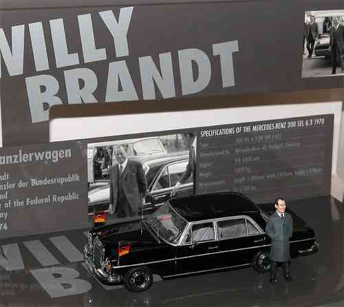 Minichamps Mercedes-Benz 300 SEL Kanzler Willy Brandt 1/43