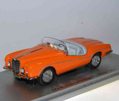 Kess Scale Models, 1956 Alfa Romeo Ghia Aigle Roadster, orange, 1/43