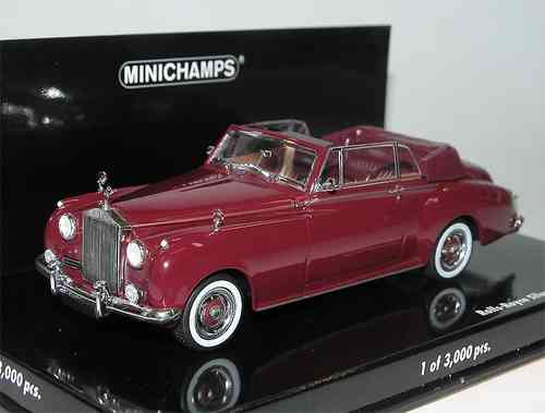 Minichamps, 1960 Rolls Royce Silver Cloud II Cabriolet, red, 1/43