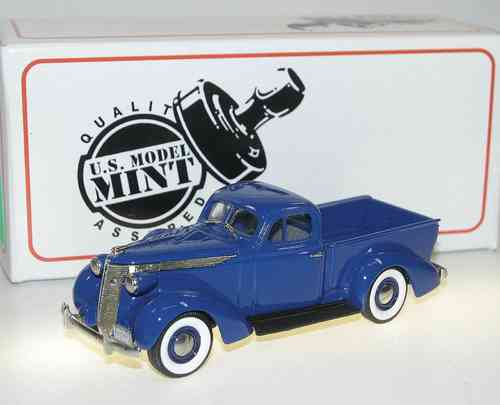 US Model Mint, 1937 Studebaker Express Pick-Up, blue, 1/43