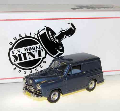 US Model Mint, 1951 Crosley Sedan Delivery, blue metallic, 1/43