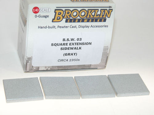 Brooklin Sidewalks, Square Extension, 4 Gehwegplatten. Quadrate, Diorama Zubehör 1/43