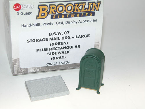 Brooklin Sidewalks, US Storage Mail Box, large, Briefkasten, Diorama Zubehör 1/43